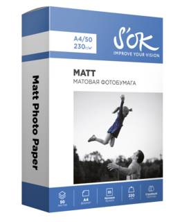S'OK Matt Photo Paper,А4,230 г/м2 (50 л)